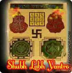 Shubh Labh gold plated Yantra This  Shubh Labh  gold plated  Yantra charged by  Ganesha Lakshmi mantra.  Shubh Labh Yantra is a mixed Yantra of Goddess Lakshmi and Lord Ganesh and is named Maha Yantra....
