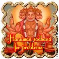 Hanuman Sadhana for riddance from problems