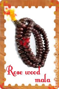 Rose Wood Mala This Rosewood mala charged by Lakshmi mantra. The therapeutic energy of wooden prayer beads is...