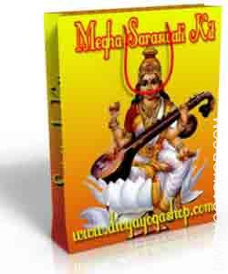 Megha saraswati spiritual kit This Megha Saraswati Spiritual kit has been charged by Megha Saraswati mantra. It is beneficial for power of speech, happiness in family life. No need to Puja...