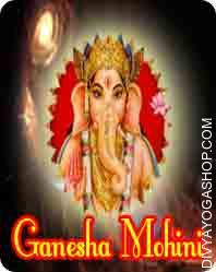 Ganesh mohini Sadhna Samagri This Ganesh mohini Sadhna Samagri has been energised by Panchamukhi mantra.  Ganesh mohini sadhna may be very robust and helpful for attracting any individual in your favour....
