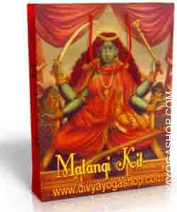 Matangi spiritual kit This Matangi Spiritual kit has been charged by Matangi mantra. It is beneficial for power of speech, happiness in family life. No need to Puja, Sadhana, chanting...