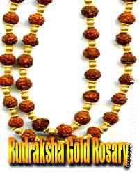 Rudraksha gold rosary This rudraksh gold rosary is charged by rudraksh mantra. This is beneficial for...