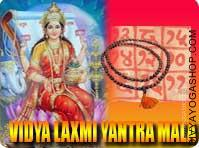 Vijaya-Lakshmi yantra mala for victory This Vijaya-Lakshmi Yantra and rosary energized by Vijaya-Lakshmi Mantra. It gives you success in facets in life...