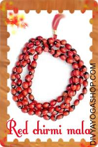 Red Chirmi Mala This Red Chirmi Mala charged by Mahalakshmi mala. Red Chirmi Mala wearer get wealth, success in...