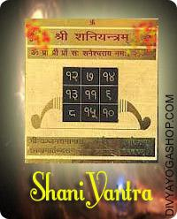 Shani gold plated yantra