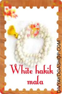 White Hakik Mala This White Hakik (Rosary) mala  charged by Chandra mantra. Hakik or Agate is a multi utilitarian mala...