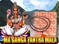 Ganga yantra mala for hollyness This Ganga Yantra and rosary energized by Ganga Mantra. It gives you way of hollyness, sanctity, divinity, faith...