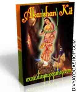 Akarshan Spiritual Kit This Akarshan Spiritual kit is charged by Kamdeva mantra. Akarshan Spiritual kit, as the title goes is an 'Attraction Spiritual kit', which helps an individual bearing it in getting the attention..
