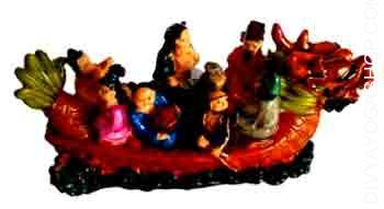 Feng Shui Dragon Boat The Eight Immortals are crushing a Dragon boat on this actually stunning piece with particular...