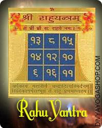 Rahu gold plated yantra