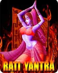 "Rati yantra for love Rati means ""the pleasure of affection, sexual ardour or union, ardent enjoyment"", all of which Rati personifies..."