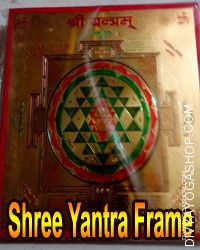 Shree yantra with frame This shree yantra with frame is charged by sodashi mantra. This is beneficial for attaining all worldly desires &...