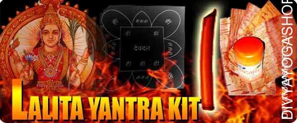 Lalita yantra kit for luck