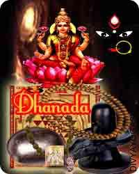 Dhanada sadhana samagri This Dhanada Sadhana Samagri has been energised by Dhanada  (Lakshmi-Kali) mantra. It is beneficial for good luck and money attraction. If you have trouble with this kind of problems...