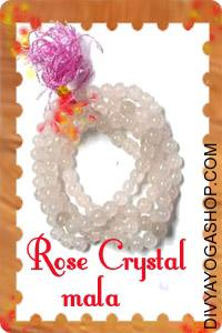 Rose Crystal mala