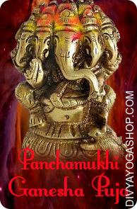 Panchmukhi Ganesh Puja He is shown having 5 faces . Panchmukhi means 5 faced. Essentially the most relevant meaning of the five-headed Ganesh is certainly that these heads symbolize the 5 kosha in the subtile anatomy experienced by the yogi:...