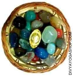 Feng Shui Wealth Basket with Onyx - Ingot Mixture of Multi color onyx with Cash ingot is believed to draw auspicious cash luck for the proprietor...