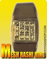 Mesha (Aries) Rashi ring