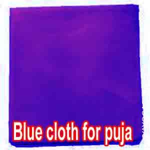 Blue cloth for puja