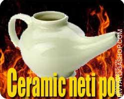 Ceramic Neti pot  Ceramic Neti Pot supports in recurring upper respiratory tract infections and other nasal problems...