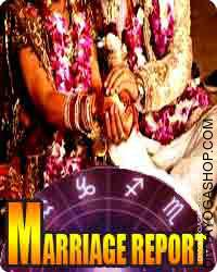 Marriage report Marriage report predictions on partner, spouse, husband, compatibility, relationships, adore, ambiance, sexual compatibility, separation, divorce.