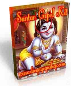 Santan Gopal Spiritual kit his Santan Gopal Spiritual kit charged by Gopal mantra. Santan Gopal Spiritual kit is an effective kit for these wanting for progeny...