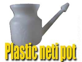 Plastic neti pot Plastic Neti Pot - Neti pot is a specifically designed pot used for Jalaneti therapy also referred to as Neti...