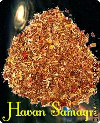 Special Havan Samagri This special Havan Samagri is prepared by DivyaYoga Shop. The Havan Samagri may be very sacred and each merchandise is significant. Puja Samagri normally consists of a mixture of sandalwood powder, lobaan and ghee....
