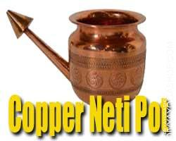 Copper neti pot Jal Neti Pot - Neti pot is a specifically designed pot used for Jal neti remedy also called Neti or Saline Nasal...