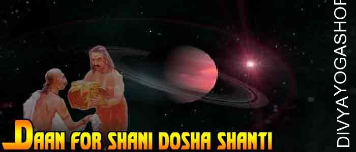 Daan (charity) for Shani Graha shanti ​Donation to appease the Saturn (Shani). It is beneficial for strong profession, healthy life as well as...
