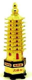 Education Tower- Pagoda Tower The pagodas or education towers obtainable as feng shui cures. The towers could also be of three tier, five ,seven or nine tier..