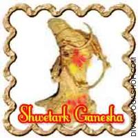 Shwetark Ganesha for fulfilment in business or activity