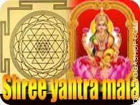 Shree yantra and mala for wealth This siddha Shree Yantra and rosary energized by Tripur Sundari mantra. It gives you blessing to family peace and material life. Wrap this Shree Yantra in a red cloth on a Monday...