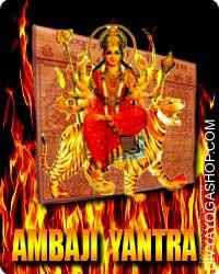 Ambaji yantra This Ambaji yantra charged by Durga mantra. Ambaji Yantra Yantra is used to worship of Mata Durga. This Ambaji yantra is a robust yantra for attaining needs, to remove difficulties..