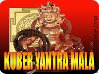 Kuber yantra and mala for properity