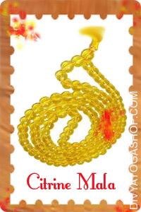 Citrine Mala This Citrine Mala charged by Surya mantra. This gemstone has a protracted history of being worn as a...