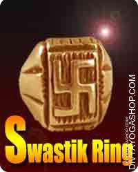 Swastik copper ring