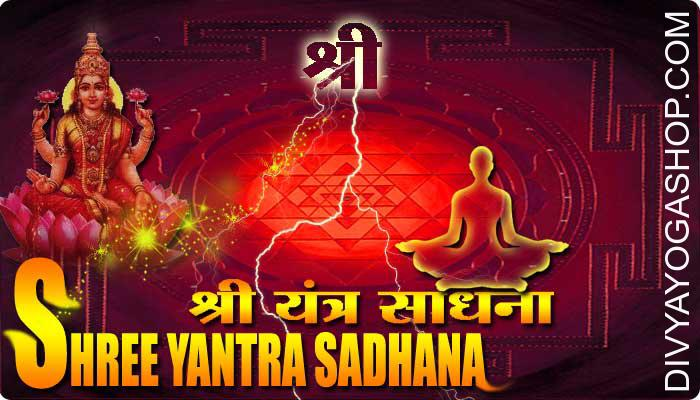 Shree Yantra sadhana Shree Yantra is known as a powerful and unfailing instrument where attracts Laxmi, the Goddess of Wealth and Prosperity. She is actually compelled to manifest at the place where this type of Mantra...