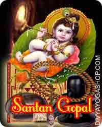 Santan gopal sadhana samagri This Santaan-Gopal Sadhana Samagri has been energised by Santaan-Gopal mantra. Maata Mangala Sadhna helps in removing the difficulty of conceiving children...