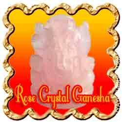 Rose Crystal Ganesha A will need to have for any crystal assortment This Rose Quartz Ganesha statuette is skillfully hand imprinted...