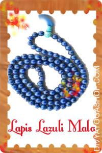 "Lapis Lazuli Mala This Kyanite  mala charged by Moon mantra. Lapis Lazuli is a ""stone of complete awareness"", serving..."