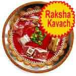 Traditional Rakhi Thali with raksha kavach