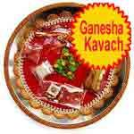 Traditional Rakhi Thali with ganesha kavach