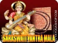 Saraswati yantra and rosary for wisdom