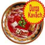 Traditional rakhi thali with durga kavach