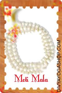 Pearl mala This Pearl mala charged by Moon mantra. Pearl mala helps to stimulate instinct, sensitivity, imagination...