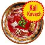 Traditional rakhi thali with kali kavach