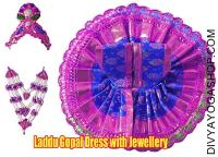 Laddu gopal dress with jewellery