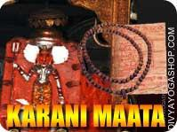 Karani mata yantra mala for protection This Karani mata Yantra and rosary energized by Karani mata mantra. It gives you blessing and visitors put in...